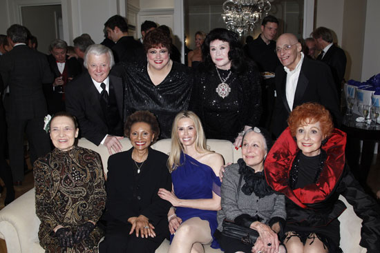 From Top Right: Tony Butala, Cathryn Kenzel, Barbara Van Orden, Hilary Knight, Julie Wilson, Leslie Uggams, Patty Farmer,  Marge Champion, and Carol Lawrence