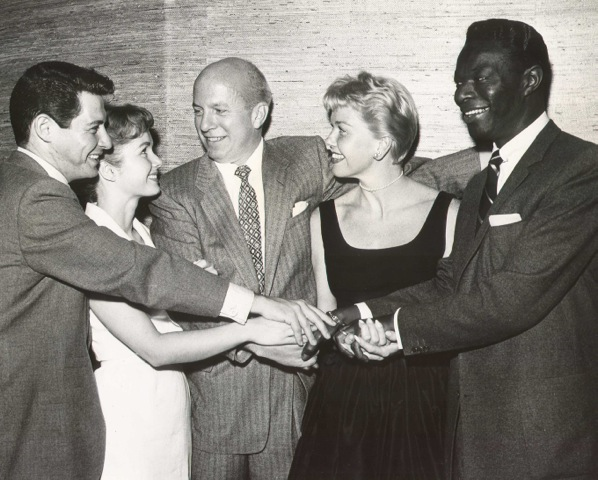 Eddie Fisher, Debbie Reynolds, Jimmy, Doris Day and Nat King Cole