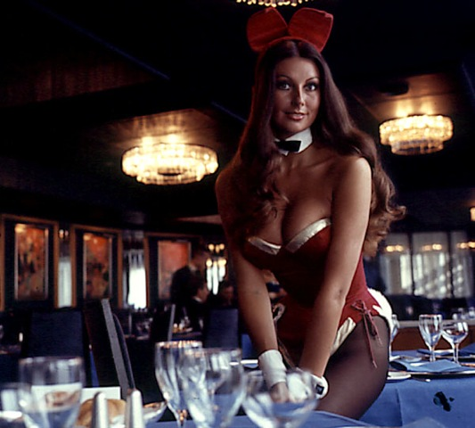Marilyn Cole working as a Bunny in the London Playboy Club