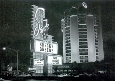 Shecky Greene performing at the Sands Hotel Las Vegas