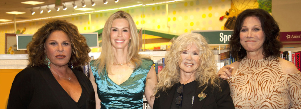 Lainie Kazan, Patty Farmer, Connie Stevens, Michelle Lee at the LA signing of The Persian Room Presents