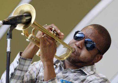 Trombone Shorty - June 12, 2010, during the 32nd Annual Playboy Jazz Festival at the Hollywood Bowl. (AP Photo/Reed Saxon)